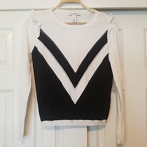 WHBM White House Black Market Chevron Sweater s